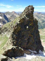 l'anticima ovest e la cresta da scendere
