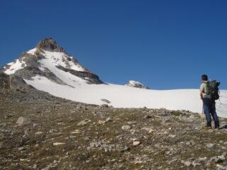 In vista del ghiacciaio Goletta e della Granta Parei