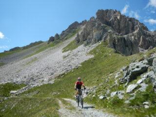l'arrivo al Colle del Mulo 2527 m.