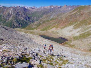 il tratto sopra il lago Reisassa