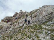 la placca rocciosa attrezzata con catene