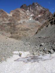 la parete sud del Monviso  salendo al Passo Dante