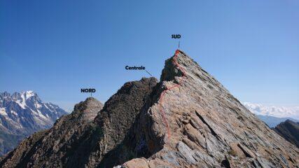 Il tratto di cresta ovest valutato F