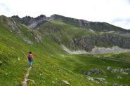 Salendo verso il Colle di Rui - Sullo sfondo la Costa Fissela