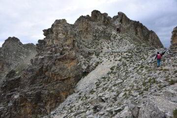 Un tratto della cresta verso il monte Freide