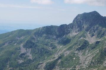 Dalla cima del Tovo, la dorsale dal Poggio Frassati alla vetta del Mucrone
