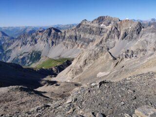 Il vallone di salita dalla punta Argentiere