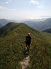 Quasi sulla quota 2.321 con dietro Passo e Monte Crosetta