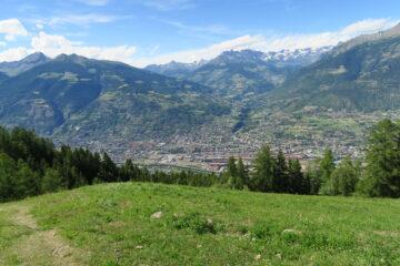 scendendo ad Aosta