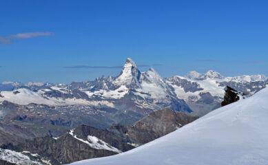Cervino e Monte Bianco visti dal Feejoch