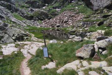 Il Laghetto del Camino scendendo a Oropa