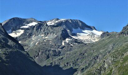 Quel che rimane del ghiacciaio del Sommelier
