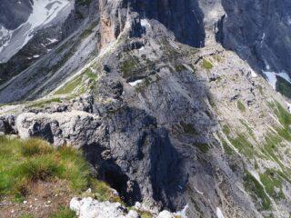 Forcella Popera vista dalla cima.