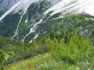 Il Rifugio Berti ed il sentiero di accesso dal Lunelli.