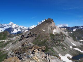 Panorama dalla cima verso Cervino e Gran Sometta.