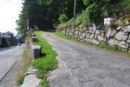 La partenza del sentiero Papa Giovanni Paolo II (D11) da Oropa