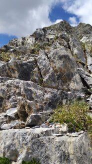 Alla base della cresta di salita