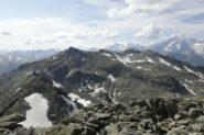 Dalla vetta: Mt Lussè e massiccio del Bianco