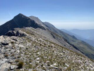 Cresta finale da poco prima dell'intaglio 2882m