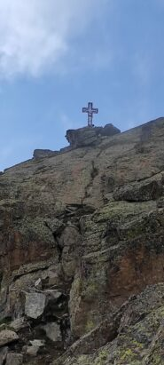 La croce dall'ultimo tratto di salita