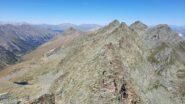 la cresta verso la Udine ed in basso il ref. du Viso