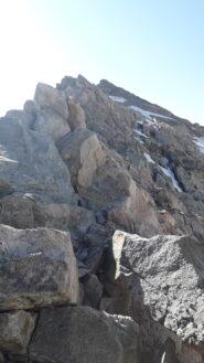 il tratto finale di cresta alla vetta del pic de glacier d'arsine..dai pressi del colle omonimo..