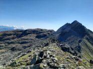 Dalla Cima Chiavesso si vede la Punta Ciorneva