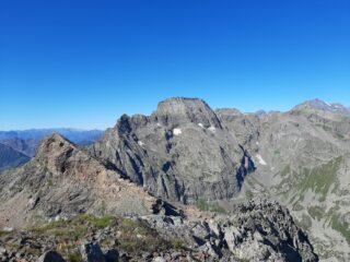 Dalla Cima Chiavesso: Punta Golai (sx) e Torre d'Ovarda (centro)