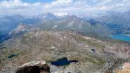 Dalla vetta, magnifica vista su Malamot, Piccolo Momcenisio e Vanoise