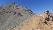 Ultima parte di salita verso la Cima della Seur dopo il Pas de Rousses: il sentiero si intravede a malapena