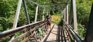 il robusto ponte sul rio Sessi