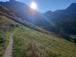 Sentiero di salita dopo Cuneaz