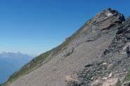 La cima del Corno vista dall'inizio della dorsale