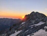 L'alba dietro alla Serra di Pagarì