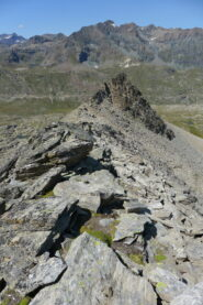 Parte della cresta, in fondo il salto a quota 2980