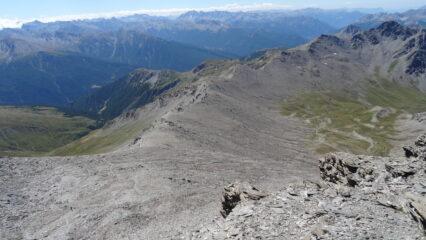 Petit Rochebrune in fondo alla cresta