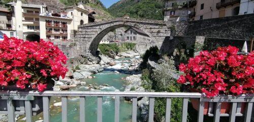 Ponte del Diavolo a Pont Saint Martin