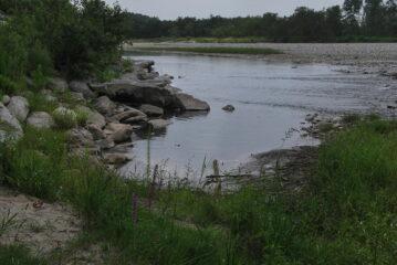 La presa originale, abbandonata, della Biraga sul Sesia