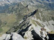 Cresta Nord vista dalla cima