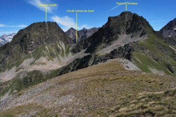 La cresta dal colle verso la Punta di Verdona