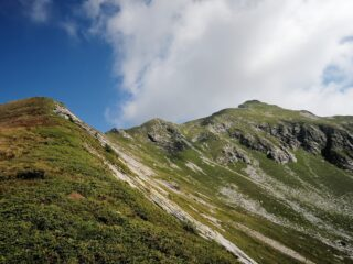 Cresta percorsa fino alla cima Sud-Ovest