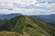 Cresta percorsa verso Ganda Rosa e Bocchetta di S. Antonio