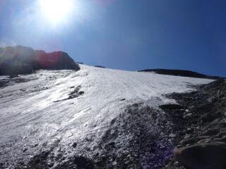 ultime propaggini del ghiacciaio intorno a quota 3.250 m.