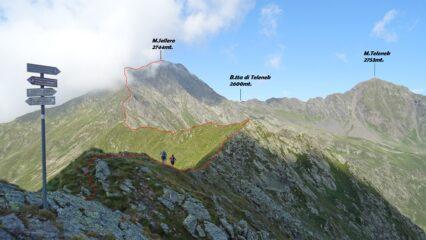 Vista dal P.so del Sellero sulla cresta che sale al M.Sellero.