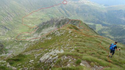 In rosso la traccia di buona parte del percorso.