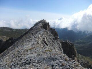 L' aerea cresta della Cima Revelli