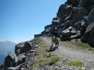 l'arrivo in cima al Monte Malamot