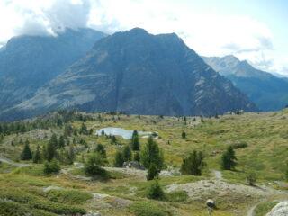 dal colletto vista sul Lac de Sarailles
