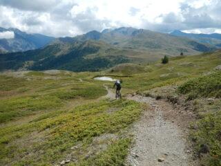 verso il Lago Saurel 2290 m.