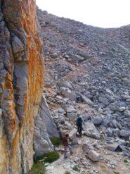 la pietraia  dopo il Colle di Vers